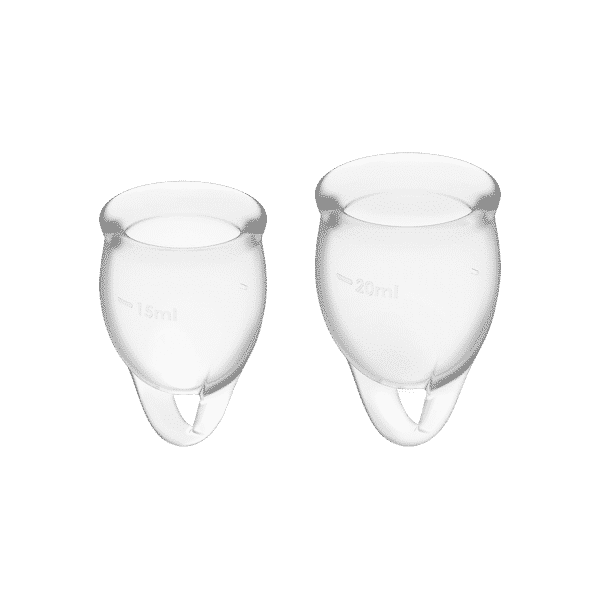 Satisfyer Feel Confident Menstrual Cup White Front View